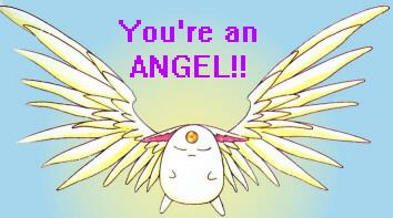 You're an angel! Puu!
